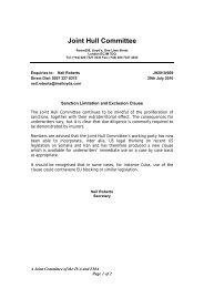Sanction Limitation and Exclusion Clause - Bimco