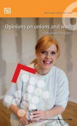 Opinions on unions and work - LO