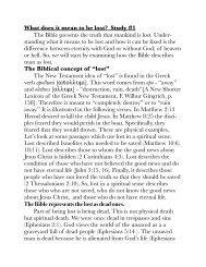 The Basics of Salvation - Grace Teaching