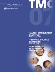 Annual Report 2007 - TMG corporate