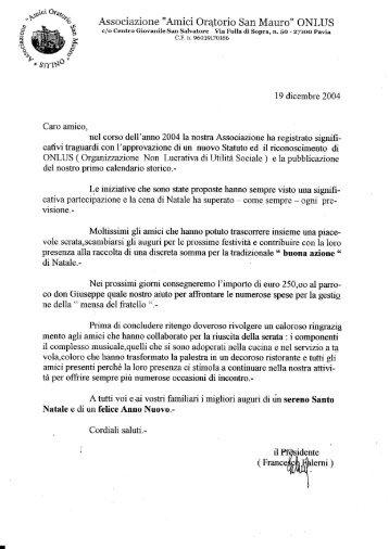 19 dicembre 2004 - amici oratorio San Mauro onlus