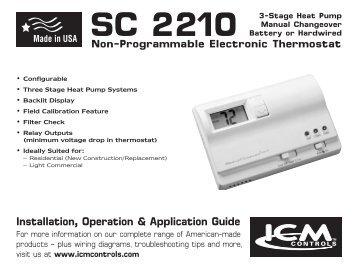 SC 2210 - ICM Controls  C Icm Wiring Diagram on