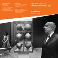 Quartalsprogramm Oktober – Dezember 2010 - Kunsthalle Mannheim