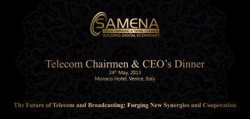 Download Agenda - SAMENA Telecommunications Council