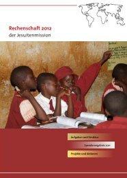 Rechenschaft 2012 - Jesuitenmission