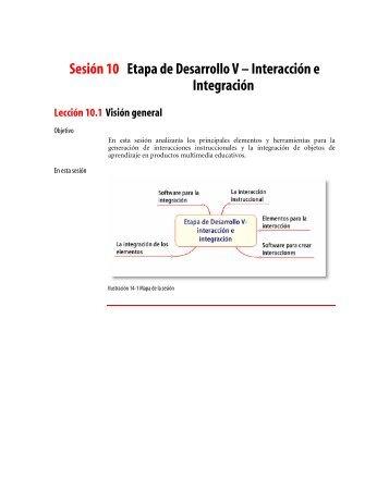 Sesión 10 Etapa de Desarrollo V – Interacción e Integración Lección ...