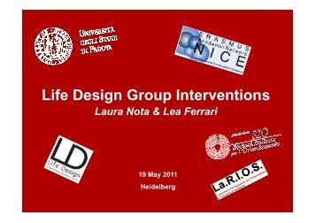 Life Design - Two Workshops on Experimental ... - Nice-network.eu