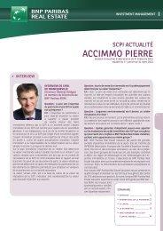 Bulletin trimestriel - Accimmo Pierre - BNP Paribas REIM