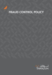 FRAUD CONTROL POLICY - EthicsPoint