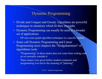 Dynamic Programming 1