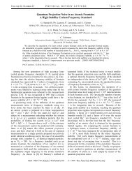 Quantum Projection Noise in an Atomic Fountain: A High ... - Free