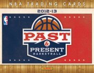 2012-2013 Panini Past & Present Basketball Product Information ...