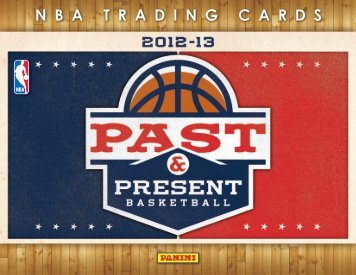 2012-2013 Panini Past & Present Basketball Product Information ...