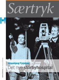 Særtryk om det nye storbyhospital, oktober 2010 (pdf) - Bispebjerg ...