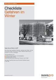 Checkliste Gefahren im Winter (2009)