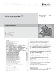 Verstellpumpe A4VG - Group VH A/S