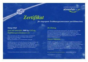 Atmosfair-Zertifikat.. - Spitzbergen