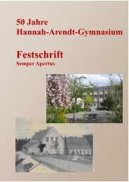 Jahresbericht - Hannah-Arendt-Gymnasium