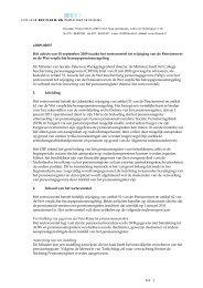 Advies van 10 september 2009 inzake het wetsvoorstel tot wijziging ...