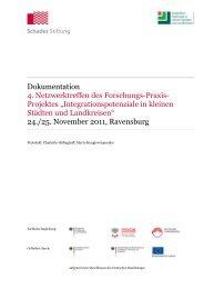 Dokumentation 4. Netzwerktreffen des Forschungs-Praxis- Projektes ...