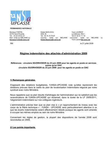 remarques_UNSA_-UPCASSE_primes_2009 - Site conçu par l ...