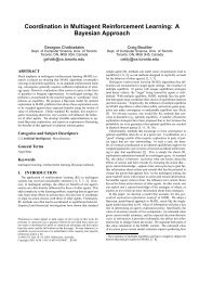 Coordination in Multiagent Reinforcement Learning: A Bayesian ...