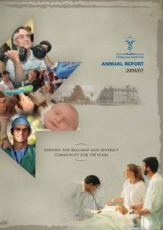 annual report - Ballarat Health Services