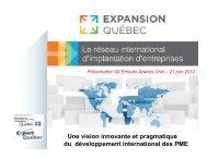 Présentation de Mme Liliane Laverdière, Expansion Québec