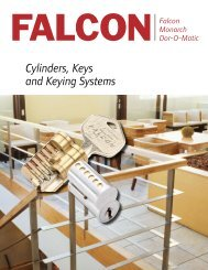 Cylinders, Keys and Keying Systems - Security Technologies