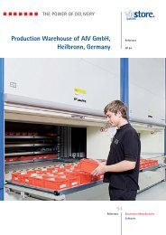 Production Warehouse of AIV GmbH, Heilbronn ... - Viastore Systems