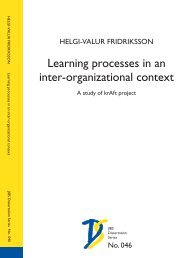 Learning processes in an inter-organizational context