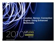 Location, Sensor, Connection , , Engine: Using Enhanced ... - Uplinq
