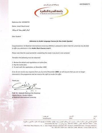 ASC09A00271 Prof. Dr. Habeeb Rahman bin Ibramsa - Al-Madinah ...