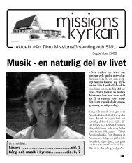 Musik - en naturlig del av livet - Missionskyrkan Tibro