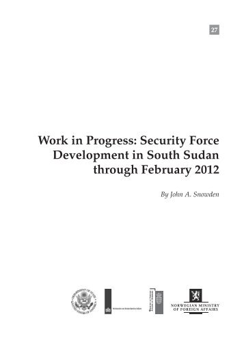 HSBA-WP-27-Security-Force-Development-in-South-Sudan