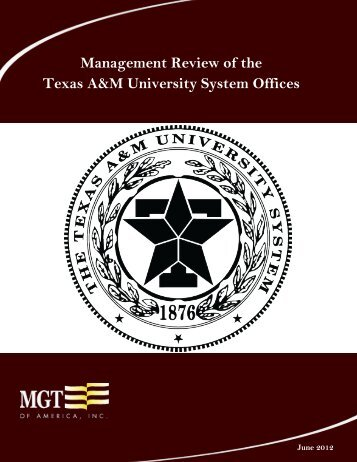 Management Review of the Texas A&M University System Offices