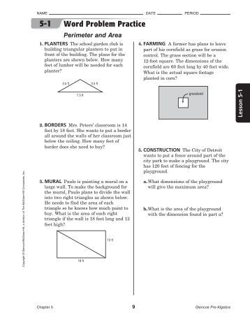 Worksheets Glencoe/mcgraw-hill Word Problem Practice Answers name word problem practice rschooltoday