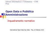 Big Data e Pubblica Amministrazione - Istituto di Informatica e ...