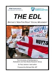 The EDL: Britain's 'New Far Right' Social Movement - One East ...