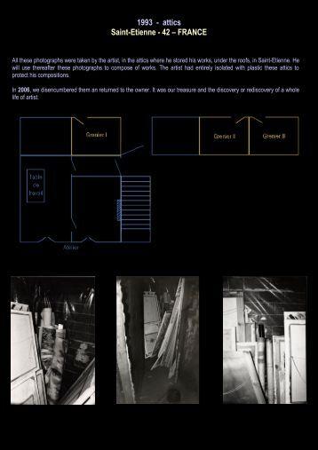 1993 - attics Saint-Etienne - 42 – FRANCE - Daniel paradis - artiste