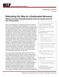 Rebuilding Our Way to a Sustainable Recovery