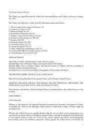 The Peace Treaty of Sèvres
