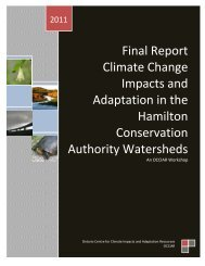 Final Report Climate Change Impacts and Adaptation in the ...