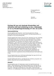 65. FIs förslag föreskrifter och allmänna råd pga ny FRL.pdf - Svensk ...