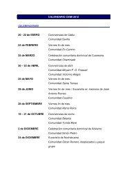 CALENDARIO CEMI 2012 20 - 22 de ENERO Convivencias de ...