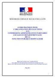 guide pratique pour l'organisation des elections aux commissions ...