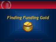Finding Funding Gold - North Carolina Biotechnology Center