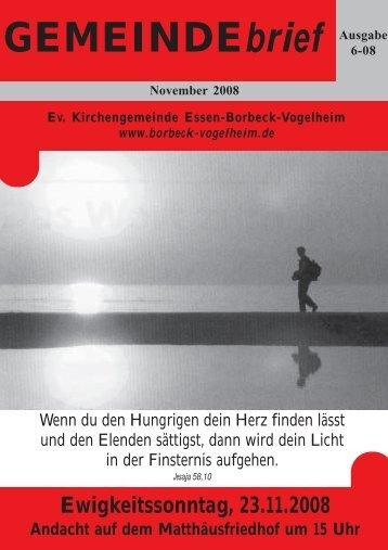 Ewigkeitssonntag, 23.11.2008