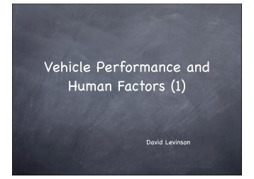 Vehicle Performance and Human Factors (1)