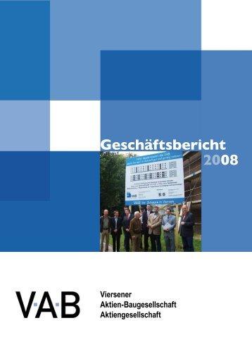 Geschäftsbericht 2008 - VAB Viersen